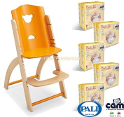 Pali Highchair Pappy Re Pumpkin + 100 Cam Nappies Size 3 Midi 4 - 9 kg