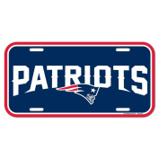 NFL New England Patriots Licence Plate, Team Colour, One Size