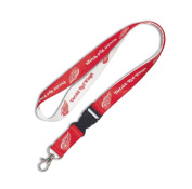 NHL Detroit Red Wings Lanyard with Detachable Buckle, 1.9cm