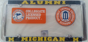 New - Michigan Wolverines Alumni Metal Licence Plate Frame - Car Auto Truck