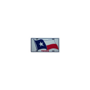 Texas State Flag Embossed Metal Licence Plate Auto Car Tag