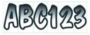 Invincible Marine BR52290 Letter/Number Kit, 7.6cm , Shaded