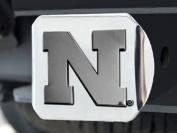 Nebraska Cornhuskers Heavy-Duty Chrome Metal Trailer Hitch Cover