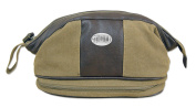 NCAA TCU Horned Frogs Men's Canvas Concho Toiletry Bag, Khaki, One Size