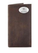 NCAA Alabama Crimson Tide Light Brown Crazyhorse Leather Roper Concho Wallet, One Size