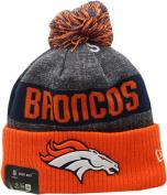 Denver Broncos 2016 Sport Pom Knit Hat On-Field Logo Block 12268