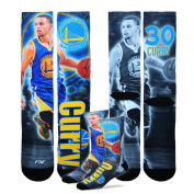 Golden State Warriors Youth Size NBA Drive Crew Kids Socks (4-8 YRS) 1 Pair - Stephen Curry