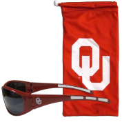 NCAA Oklahoma Sooners Adult Sunglass and Bag Set, Red