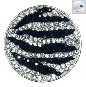 Navika Zebrazz Micro Pave Crystal Ball Marker with Hat Clip