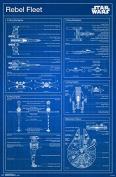 Trends International Star Wars Rebel Blueprint Wall Poster 60cm x 90cm