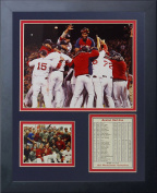 """Legends Never Die """"2013 Boston Red Sox World Series Champions"""" Huddle Framed Photo Collage, 28cm x 36cm"""
