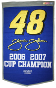 Jimmie Johnson NASCAR 2-Time Cup Champion Dynasty Banner