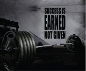Fitness Motivation Home Gym Wall Decal - Success Is Earned Not Given Wall Decal