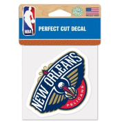 New Orleans Pelicans Perfect Cut Colour Decal 4x4 ASFS