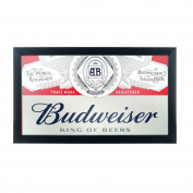 Trademark Gameroom Budweiser Framed Logo Mirror