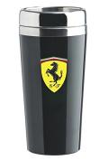 Ferrari Black Stainless Steel Travel Mug w/ Shield Logo