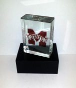 Licenced NCAA Mississippi State Bulldogs Glass Paperweight