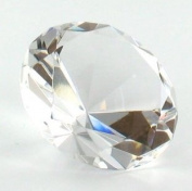 Glass Diamond Jewel Paperweight- Clear