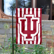 Indiana Hoosiers Candy Stripe Garden Flag and Yard Banner