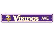 "Minnesota Vikings Plastic Street Sign ""Vikings Ave"""