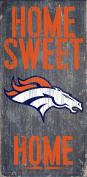 Denver Broncos Official NFL 37cm x 24cm Wood Sign Home Sweet Home by Fan Creations 048388