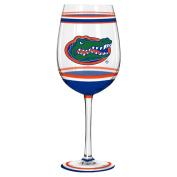 Florida Gators Wine Glass - 530ml Brush Painted
