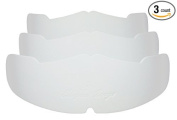 3Pk. White Manta Ray Baseball Caps Crown Inserts For Low Profile Caps| Hat Shaper| Hat Stretcher| Hat Crown Stiffener| Flex-fit Hat Support| Hat Padding| Hat Cleaning Aide| Cap Storage Aide| 100% MBG.