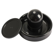 ACE Seller 96mm Air Hockey Table Felt Pusher Mallet Goalies with 1pc 63mm Puck Black
