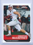 """CHRISTIAN McCAFFREY 5120cm 1ST EVER PRINTED"""" SI 1 OF 9 COLLEGE ROOKIE CARD! STANFORD CARDINAL!!"""