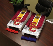 USC Trojans Desktop Mini Cornhole Game Set