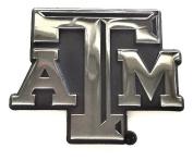 "Texas A & M Metal Auto Emblem - Modern ""Shadow"" Design"