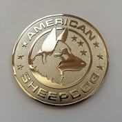 American Sheepdog Metal Emblem