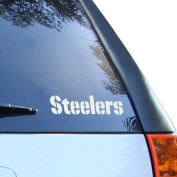 Pittsburgh Steelers 13cm x 15cm Silver Window Graphic Decal