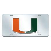 FANMATS NCAA University of Miami Hurricanes Plastic Licence Plate
