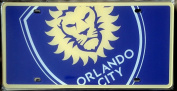 Orlando City FC Lions Deluxe PRINTED Acrylic Laser Licence Plate Tag MLS Soccer Football Club