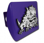 "Texas Christian University TCU ""Purple with Chrome ""Horned Frog"" Emblem"" NCAA College Sports Trailer Hitch Cover Fits 5.1cm Auto Car Truck Receiver"
