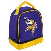 NFL Minnesota Vikings Double Compartment Lunch Cooler, Purple
