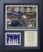 Legends Never Die Dallas Cowboys Super Bowl Rings Framed Photo Collage, 28cm x 36cm