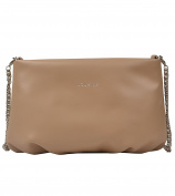 Louvier Paris Signature Genuine Leather Crossbody Pouch Holiday Edition , Tan