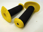 OLD SCHOOL BMX DONUT TYPE HANDLEBAR GRIPS LANDAR MADE IN THE 80's BLACK/YELLOW
