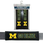 Michigan Wolverines UM NCAA Velour Seat Belt Pads