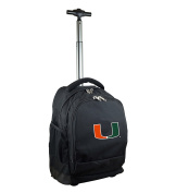 NCAA Miami Hurricanes Expedition Wheeled Backpack, 48cm , Black