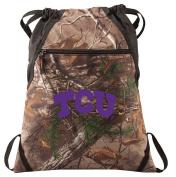 TCU Camo Cinch Pack RealTree Texas Christian Drawstring Bag