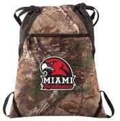 Miami University Camo Cinch Pack RealTree Miami RedHawks Drawstring Bag