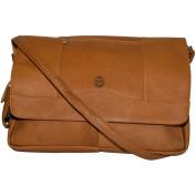NCAA Colorado State Rams Tan Leather Laptop Messenger Bag