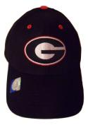 NCAA Georgia Bulldogs Structured Adult Black Logo Cap