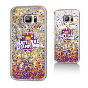 Clemson Tigers 2016 National Champions Gold Glitter Galaxy S7 Case NCAA