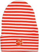 Clemson University Tigers Striped Newborn Knit Cap