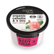 Organic Shop Body Cream Japanese Camellia Organic Camellia & 5 Oils 250ml