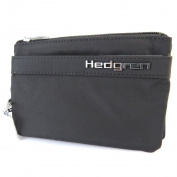 "Wallet 'Hedgren'black (3 compartments)- 14.5x9.5x2 cm (5.71""x3.74""x0.79"")."